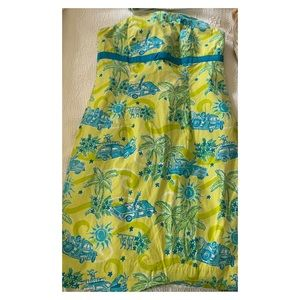 "Lilly Pulitzer ""Cruisin"" Strapless Dress, 0"